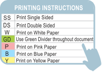 Tender Printing Instructions